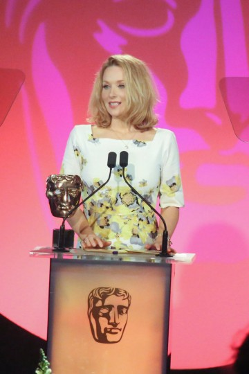 Amy Beth Hayes presents the award for Make Up & Hair Design sponsored by MAC Cosmetics at the British Academy Television Craft Awards in 2015