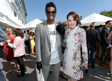 TV personality and  and runway coach J. Alexander with Downton Abbey actress Michelle Dockery