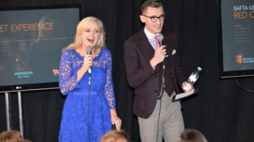 Presenters Ben Shires and Katie Thistleton at the BAFTA Kids Red Carpet Experience
