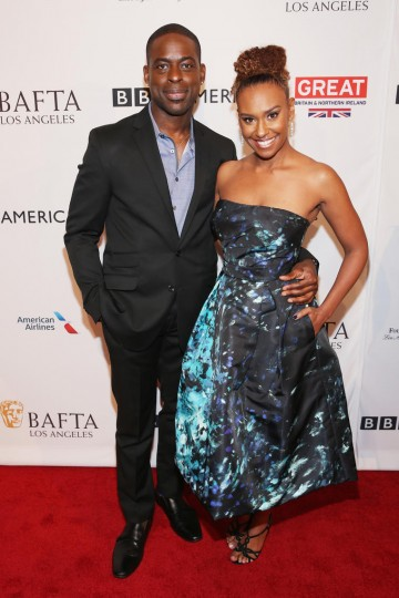 Sterling K. Brown and Ryan Michelle Bathe from This Is Us join the BAFTA Tea party