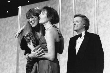 Presented by Michael Grade, the 1987 Television Award for Originality goes to Janet Street-Porter & Jane Hewland for Network 7.