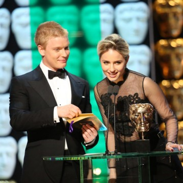 Dianna Agron and Freddie Fox present the award for Drama Series