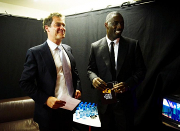 Dominic West and Idris Elba backstage at the 2009 BAFTA Television Awards.