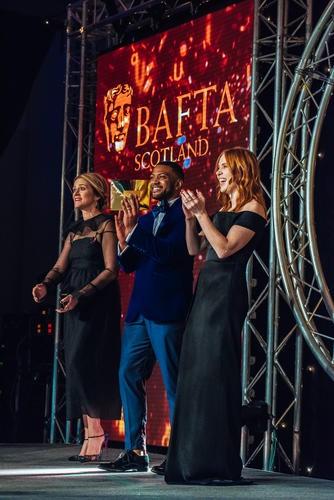 Edith Bowman, JB Gill & Angela Scanlon