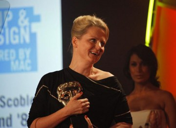 Catherine Scoble wins this Award for her make up and hair designs in the Channel Four series, This Is England '86. (Pic: BAFTA/Jamie Simonds)