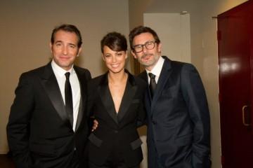 Director Michel Hazanavicius, Jean Dujardin and Bérénice Bejo