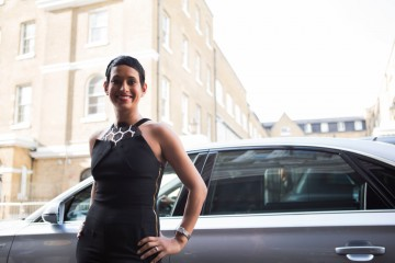 Naga Munchetty arrives at the awards