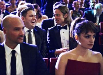Brad Pitt and Jonah Hill at the 2012 Film Awards