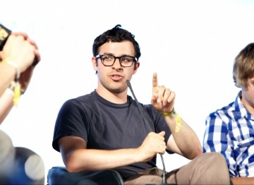 July 18: Simon Bird plays the part of geeky Will in The Inbetweeners (Picture: Jonathan Birch)