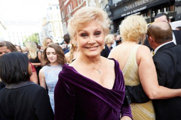 Angela Rippon arrives on the red carpet for the House of Fraser British Academy Television Awards