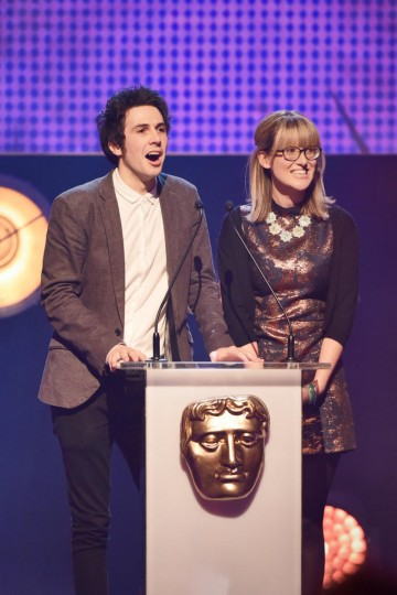 Bex and Seann present the Kids' Vote awards at the British Academy Children's Awards in 2015
