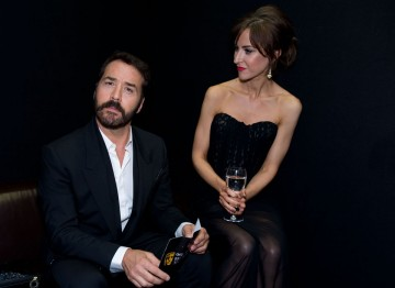 Jeremy Piven and Katherine Kelly relax at the Television Awards After Party.