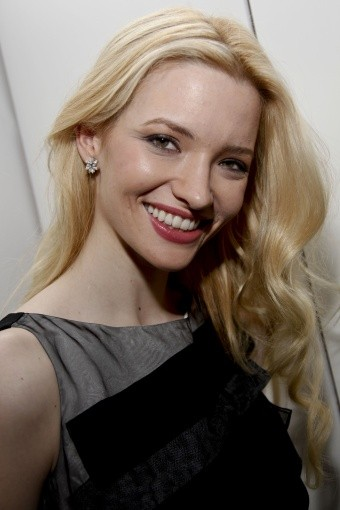 Talulah Riley poses for the cameras after making the nominees announcement.