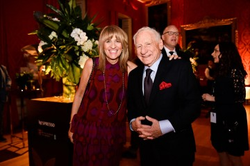 Jane Lush and Mel Brooks at the BAFTA Nespresso Nominees' Party at Kensington Palace