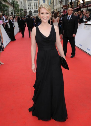 Gavin and Stacey star Joanna Page arrives to present the YouTube Audience Award (BAFTA/Richard Kendal).
