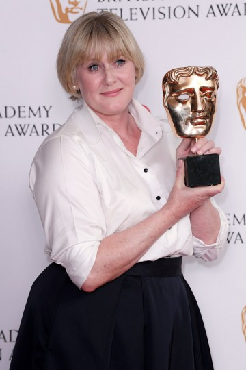 Sarah Lancashire wins the award for Leading Actress for her performance in Happy Valley