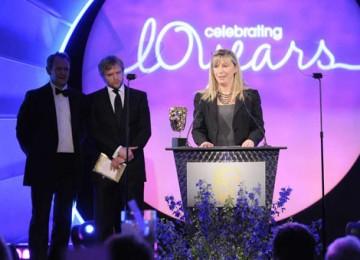 Anthony Dod Mantle follows up his Slumdog Millionaire Oscar success as Head of Production Marigo Kehoe collected the Photography & Lighting Fiction/Entertainment on his behalf for Wallander (BAFTA / Richard Kendal).