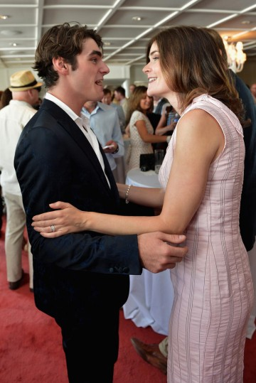 Actors RJ Mitte and Betsy Brandt