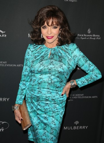 Joan Collins arriving at the BAFTA LA 2014 Awards Season Tea Party.