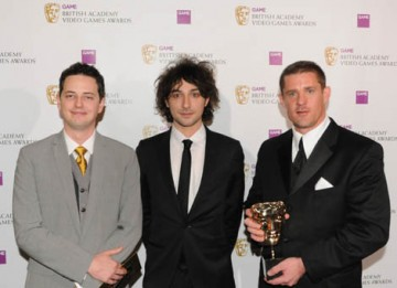 Alex Zane presented the Use of Audio Award to Jason Graves and co-creator of Dead Space Glen Schofield, on behalf of Don Veca. Jason Graves later picked up the Original Score BAFTA for the same game (BAFTA / James Kennedy).
