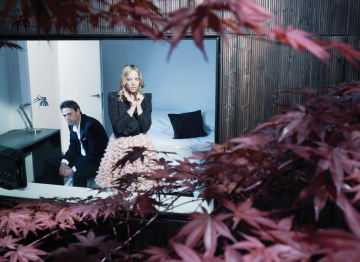 """Dougray Scott and Natalie Press photographed for """"Drama Ties"""", a photographic essay printed in the 2011 Television Awards programme."""