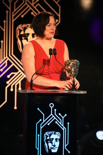 Jessica Curry accepts the award for Music for Everybody's Gone to the Rapture