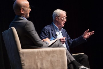 Michael Caine and Moderator, Logan Hill.