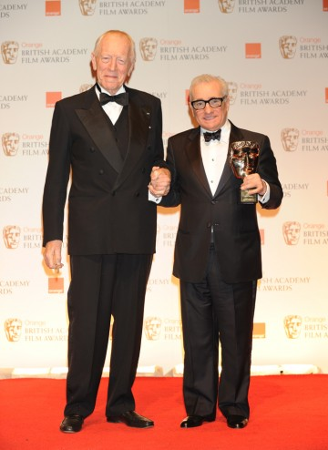 Shutter Island actor Max von Sydow with its esteemed director Martin Scorsese, whose work includes Taxi Driver, Goodfellas, The Aviator and Hugo.