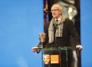 Jonathan Pryce presented the last Award of the evening, The Academy Fellowship to director Terry Gilliam. Pryce starred in Gilliam's 2005 film The Brother's Grimm (BAFTA / Marc Hoberman).
