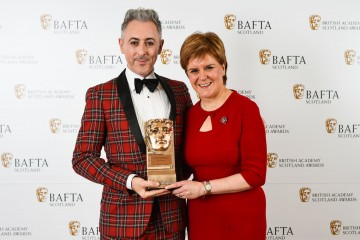 Alan Cumming with citation reader First Minister of Scotland Nicola Sturgeon, Outstanding Contribution to Film and Television
