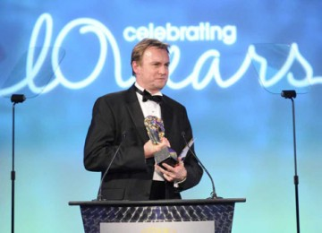 Philip Glenister dropped his hard man persona from Ashes to Ashes and Life on Mars to present the Production Design award (BAFTA / Richard Kendal).