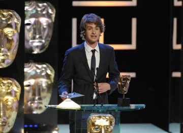 Last year's Actor winner and star of Boy A, Andrew Garfield, returned to present the Drama Serial category (BAFTA / Marc Hoberman).