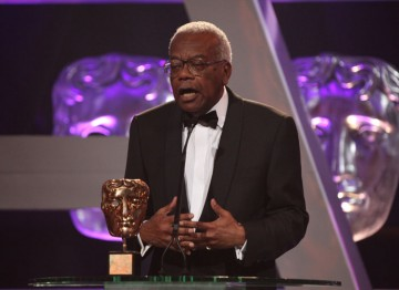 Sir Trevor McDonald accepts his BAFTA Fellowship.