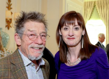 John Hurt with BAFTA CEO Amanda Berry