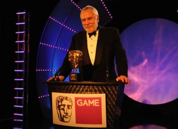 Founder of Atari and creator of Pong Nolan Bushnell received the Academy's highest honour - the Fellowship - to a standing ovation (BAFTA / James Kennedy).