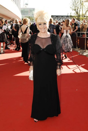 Small but perfectly formed, Barbara Windsor took to the red carpet in a black Chloe dress (BAFTA/Richard Kendal).