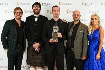 Simon Meek, Gordon Bell, Herman Serrano with citation readers Iain Stirling and Laura Anderson, Game