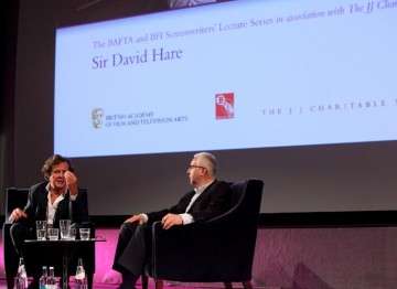 Nigel Floyd talks with Screenwriter Sir David Hare as apart of the BAFTA and BFI Screenwriters' Lecture. (Photography: Jay Brooks)