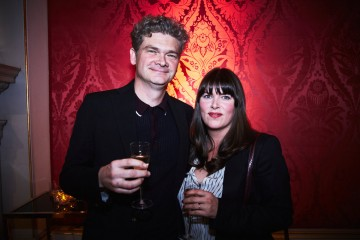 Simon Farnaby and Claire Keelan at the BAFTA Nespresso Nominees' Party