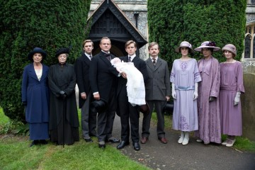 A photograph from the show's third season at character Sybil Branson's christening.