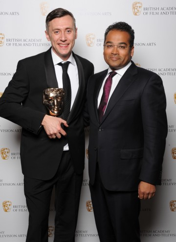 Director: Factual winner David Clews with Krishnan Guru-Murthy