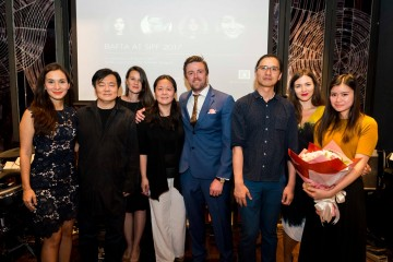 From L-R: Celina Jade, Philip Lee, Lauren Dark, Jennifer Dong, Brian Falconer, Zhanxiong Xu, Jennifer Majka and Katie Leung