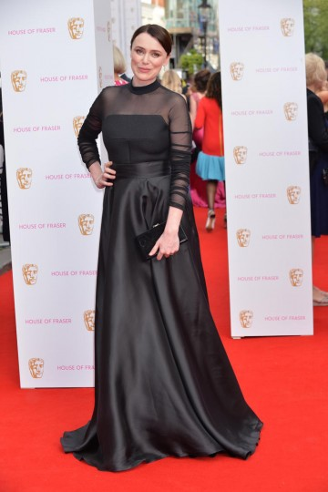 Leading Actress nominee Keeley Hawes strikes a pose on the red carpet