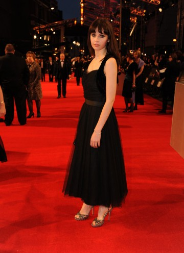 Cemetery Junction and Chalet Girl star Felicity Jones, who's currently filming Page 8 opposite Ralph Fiennes and Rachel Weisz. Jones' dress is by Chanel, with Jimmy Choo shoes and jewellery by Asprey. (Pic: BAFTA/Richard Kendal)