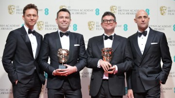 Outstanding debut by a British writer, director or producer - Pride: Stephen Beresford and David Livingstone alongside Tom Hiddlestone and Mark Strong