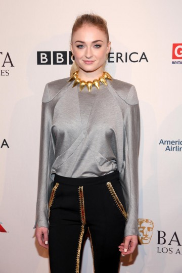 Actress Sophie Turner from Game of Thrones attends the 2017 BAFTA Tea