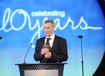 Martin Phipps claimed victory in the Original Television Music category for his work on Swedish detective series Wallander (BAFTA / Richard Kendal).
