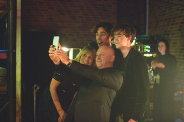 Jane Lush, Ross Kemp, Stephen Mangan & Alex Lawther get together before the awards