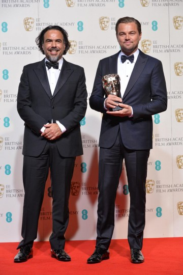 Winner of the Director award - Ajejandro G. Iñárritu, and winner of the Lead Actor award: Leonardo DiCaprio.