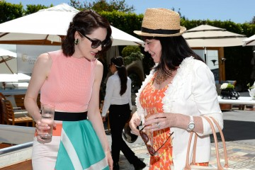 Michelle Dockery and guest